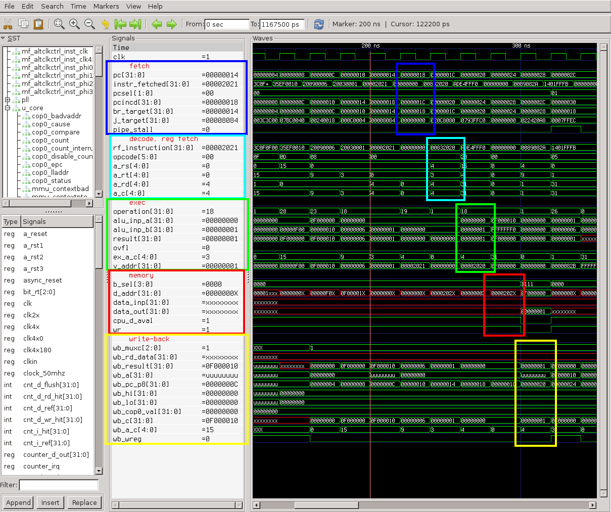 cMIPS - a VHDL model for the 5-stage pipeline, MIPS32r2 core